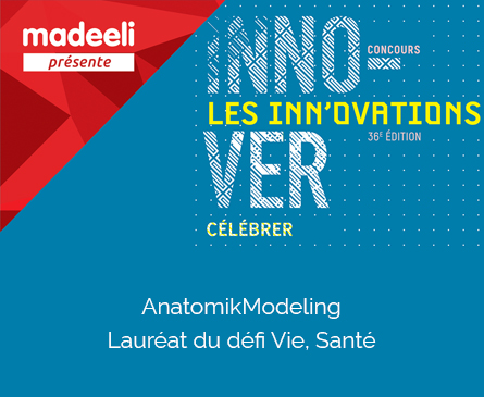 AnatomikModeling Lauréat du Concours Innovations 2017