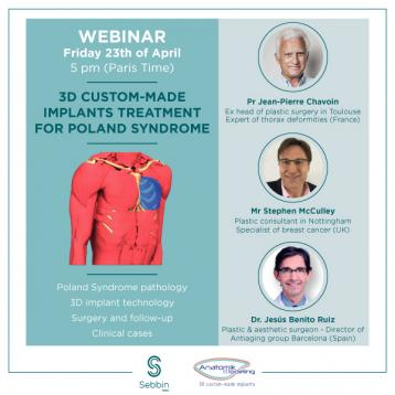 Webinar Poland Syndrome treatment flyer - 23/04/2021